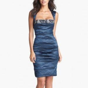 Nicole Miller Metallic Embellished Size 2 Dress